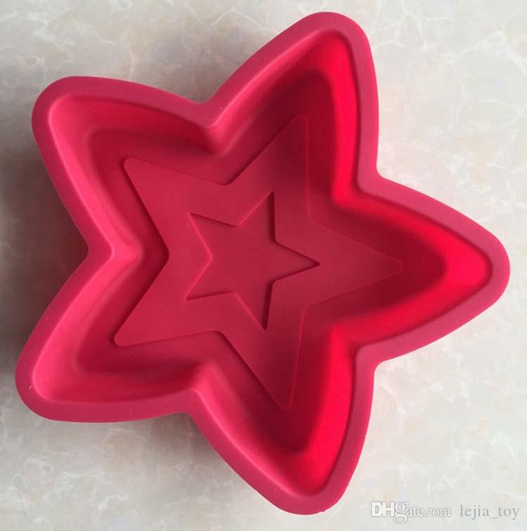 five-pointed star pentagram shape 1 hole Silicone Mold Cake Decoration tools Food Grade cake Moulds baking bakeware