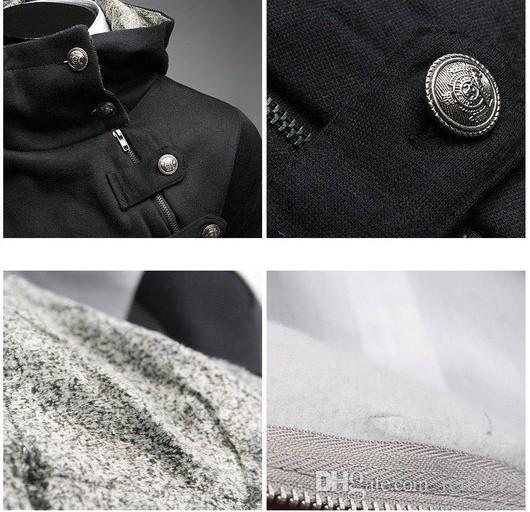 Wholesale-i Einzigartige Halskette Hoodies Sweatshirts Hoodies Männer Assassins Creed Sweatshirt Graue Jacke Stehkragen Der Frühling und Herbst