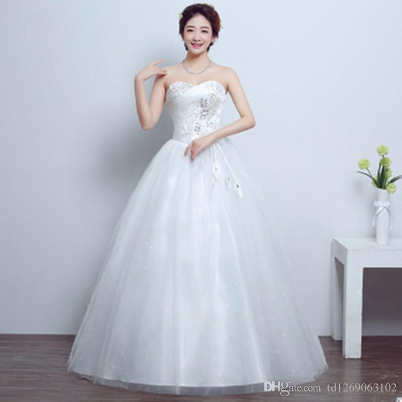 Women Wedding Dress Korean Fashion Tube Top Evening Dress Large ...