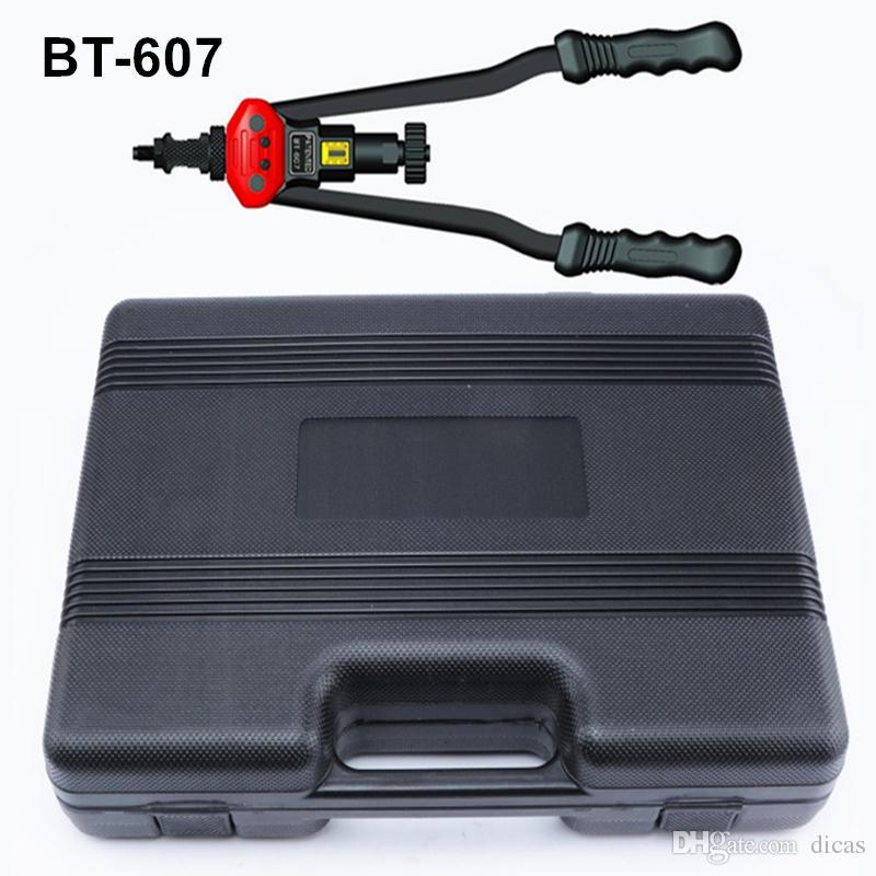 送料無料440mm 17インチハンドリベットピータープルリベットナットリベットリベットツール付き金型M3 / M4 / M5 / M6 / M8 / M10 / M12 BT-607プラスチックケース