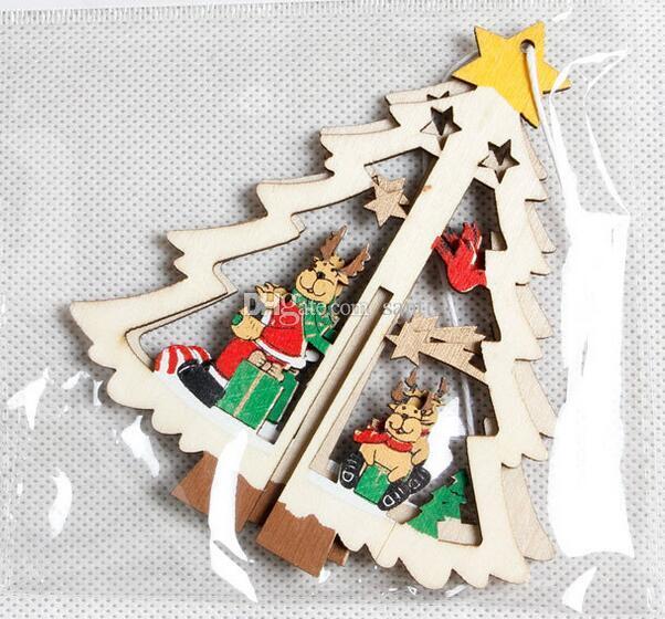 Acquista Figure Di Natale In Legno Decorazione Decorazione Di Albero