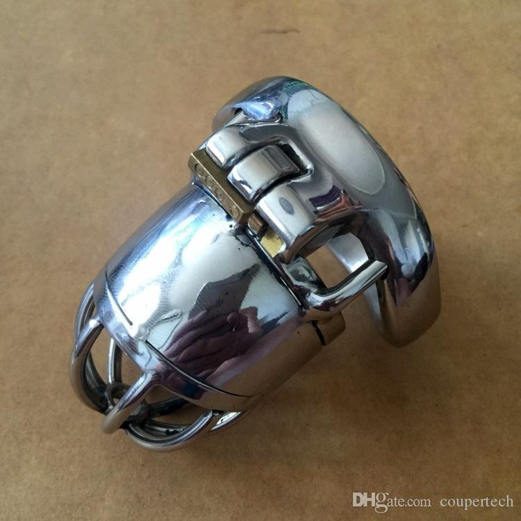 """2016 New Lock Design 70mm Cage Length Stainless Steel Super Small Male Chastity Devices 1.6"""" Short Cock Cage For Men CPS038-1"""