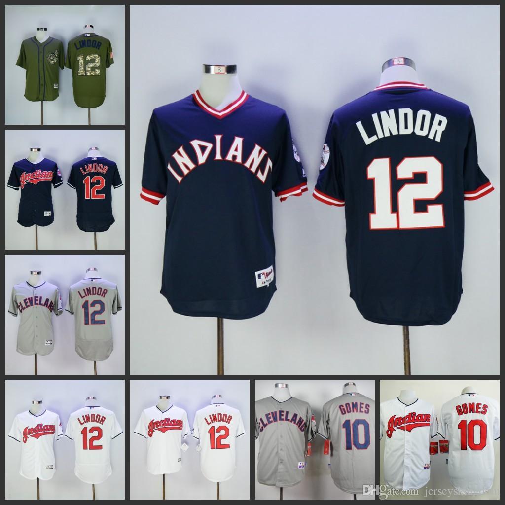 info for e5927 57e27 mens cleveland indians 12 francisco lindor gray jersey