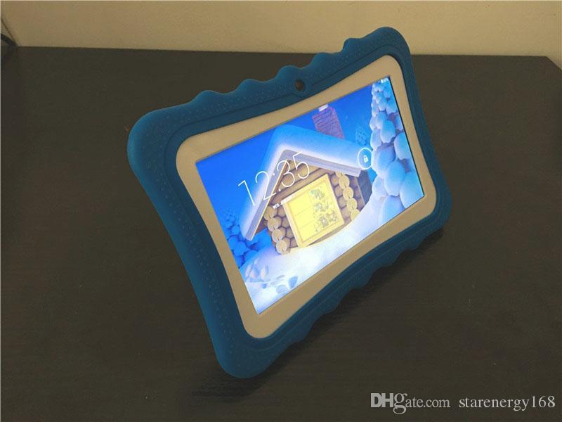 Presente Crianças Marca Tablet PC 7 polegada Quad Core crianças tablet Android 4.4 Allwinner A33 google jogador wi-fi grande alto-falante capa protetora L-7PB