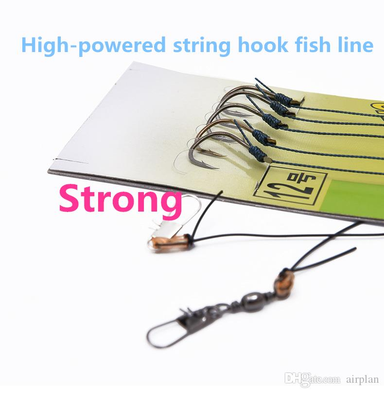 2017 2PCS 1.4m Long river fishing double high horsepower string carp fish hook fish line pesca fishing accessories