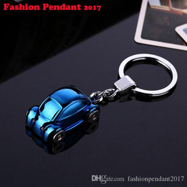 Car pattern for bag car pendant LED key ring Trinket key chains car keychain chaveiro innovative Items