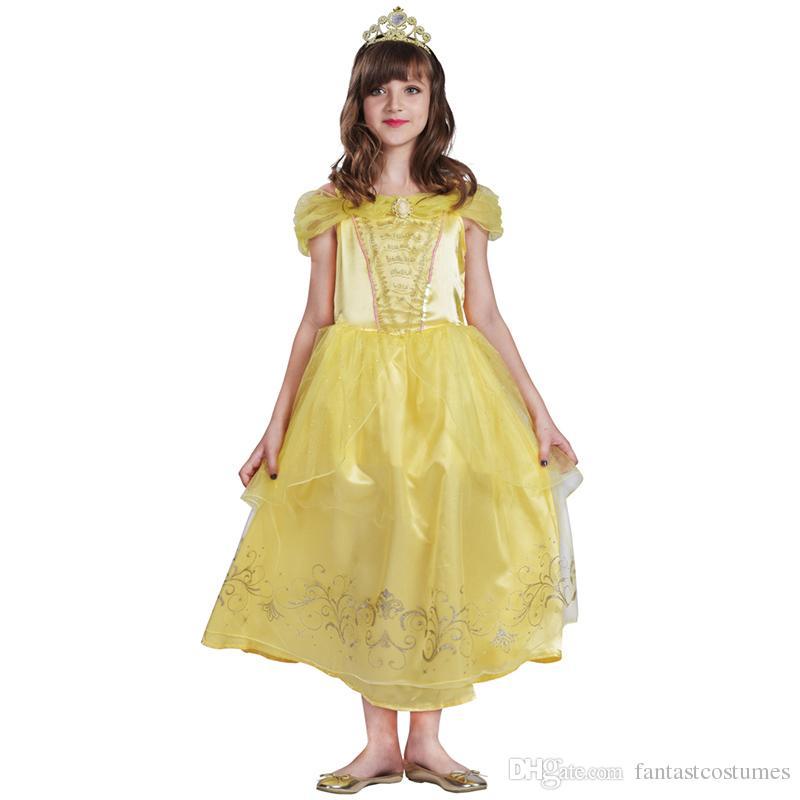 Assez Acheter Gold Beauty The Beast Belle Cosplay Costume Élégant  CH02