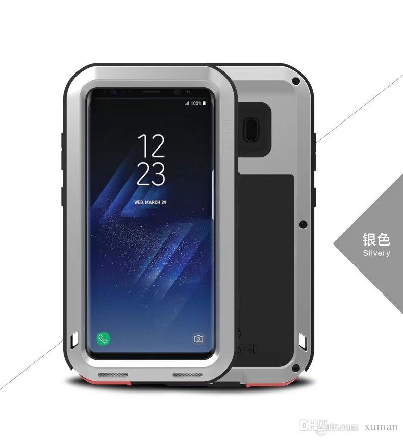 LOVE MEI Powerfull Drop resistance Corning gorilla glass+Aluminum Metal Armor case for Samsung S8 S8 PLUS