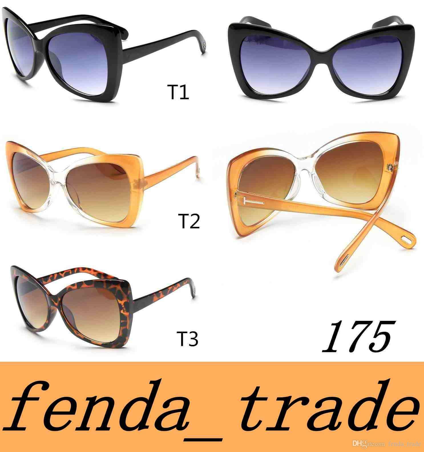 58249390bc Compre Marca Cat Eye Sunglasses Mujeres Diseñador De La Marca Gafas De Sol  Hombres Super Star Gafas De Sol De Conducción Tom For Men Gafas 175 De  Calidad ...