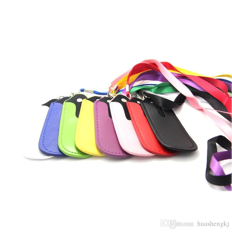 Newest Colorful PU Leather Lanyard Case Portable Carrying Pouch Pocket Rope Round Corner Case Cover for EVOD EGO Electronic Cigarette DHL