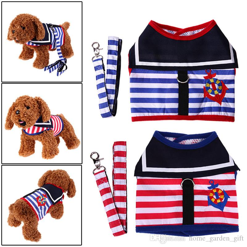 Best Strip Small Pet Cat Dog Puppy Harness Vest And Leash Cute