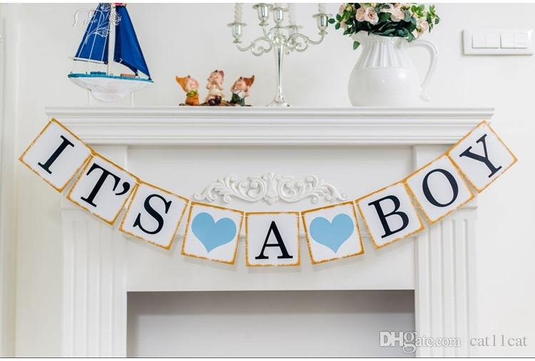 2019 It S A Girl Boy Baby Shower Banner Bunting Garland Rustic