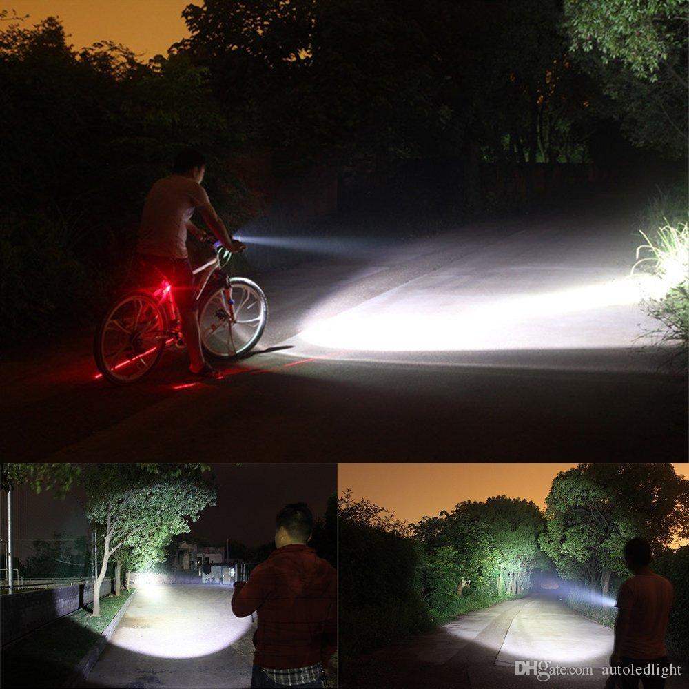 Portable éclairage rechargeable USB led lampe de poche lampe de poche lanterne XM-L2 haute puissance 3800 lumen zoomable torches tactiques de lanterne
