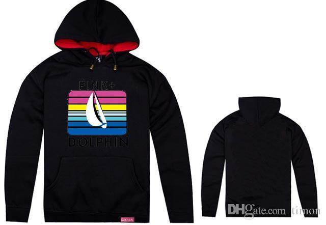 New hot selling Pink Dolphin cardigan hoodie sweatshirt brand new hip hop hoodies fleece pullover clothes wear men hoody
