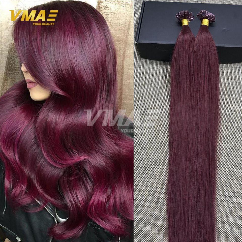 Fusion Tip Human Hair Extension Color 99j 613 Light Blonde 1g