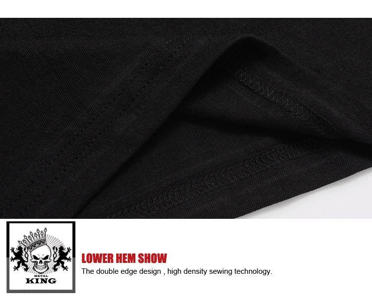 Freies Verschiffen 3D drucken Neue Junge Männer Kurzarm T-Shirt Baumwolle Schwarz Mode Rock Style T-Shirt DX-38