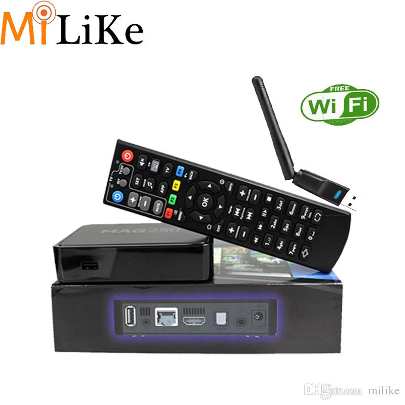 with USB wifi MAG250 Smart TV Box linux Operating System IPTV Set Top Box  Without Iptv Account MAG 250 Iptv Decoder