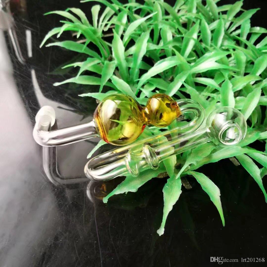 Cabaça de gourd e de enrolamento - tubulação de fumo do hookah de vidro Gongos de vidro - plataformas petrolíferas bongs de vidro cachimbo de água do hookah de vidro - vaporizador do vapor