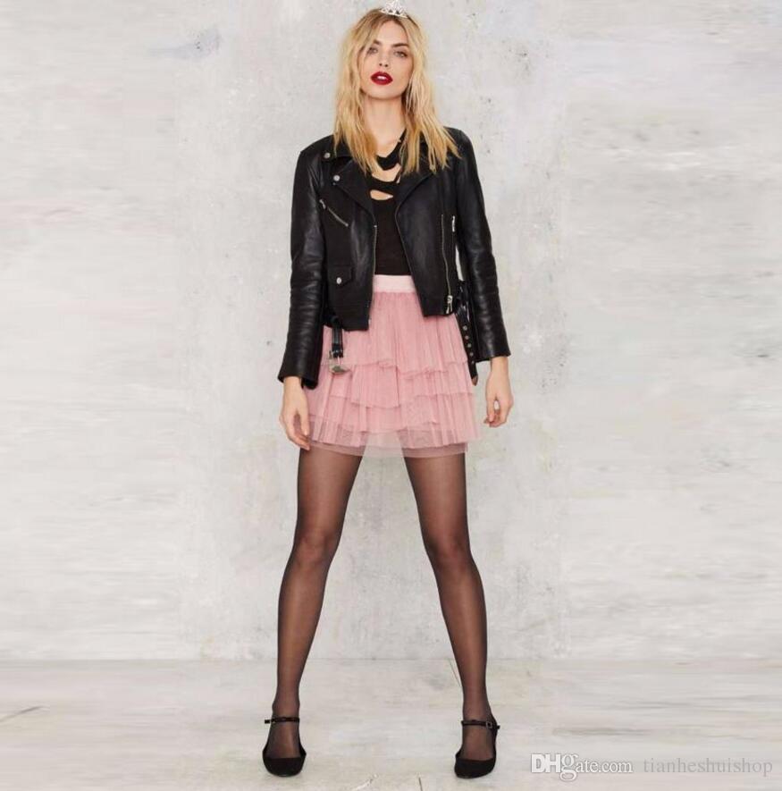 df4f5e81a Nuevo diseño de falda por encima de la rodilla Mini falda falda de tul  suave de las mujeres de color rosa de alta calidad personalizada falda de  ocio