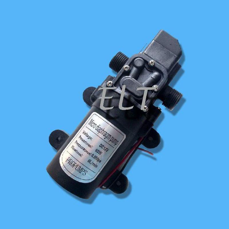 Car Washing Pump DC 12V 60W Water Pump 5L/min 60W Micro Car Diaphragm High Automatic Pressure Switch + Drop Shipping