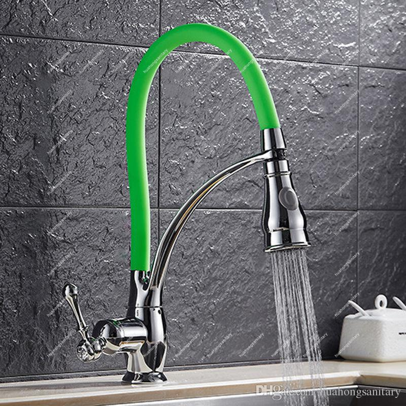 E-pak Best Kitchen Faucet Pull Down Spring Spout Hot Cold Mixer 2 ...