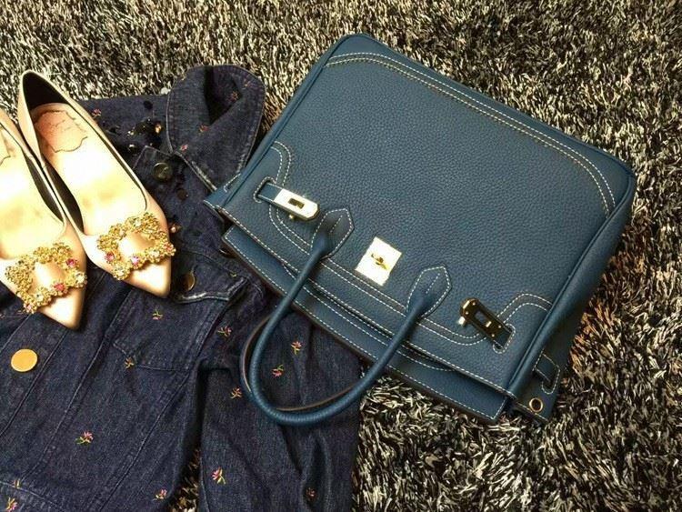 2016 Luxury H Handbag Women\`s Litchi Cowhide Messenger Bag Genuine Leather Famous Designer Shoulder Crossbody Totes Ladies Bolsa (10)