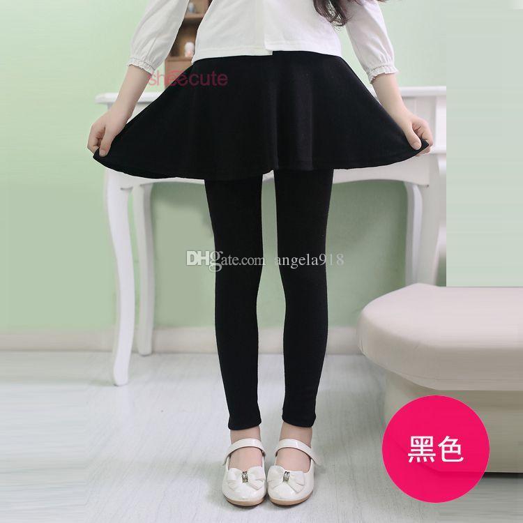 Neue Herbst-und Winter-Kindmädchen Süßigkeitfarben Gamaschen-Rock keucht Baby-Strumpfhosen hohe qulity Hosen DHL C1612