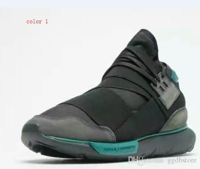 New StyleY 3 Shoes Hot Sale Y3 Qasa Men Genuine Leather High Shoes Size 38  44 Wedges Shoes Black Shoes From Ggdbstore e01eeb3f6439