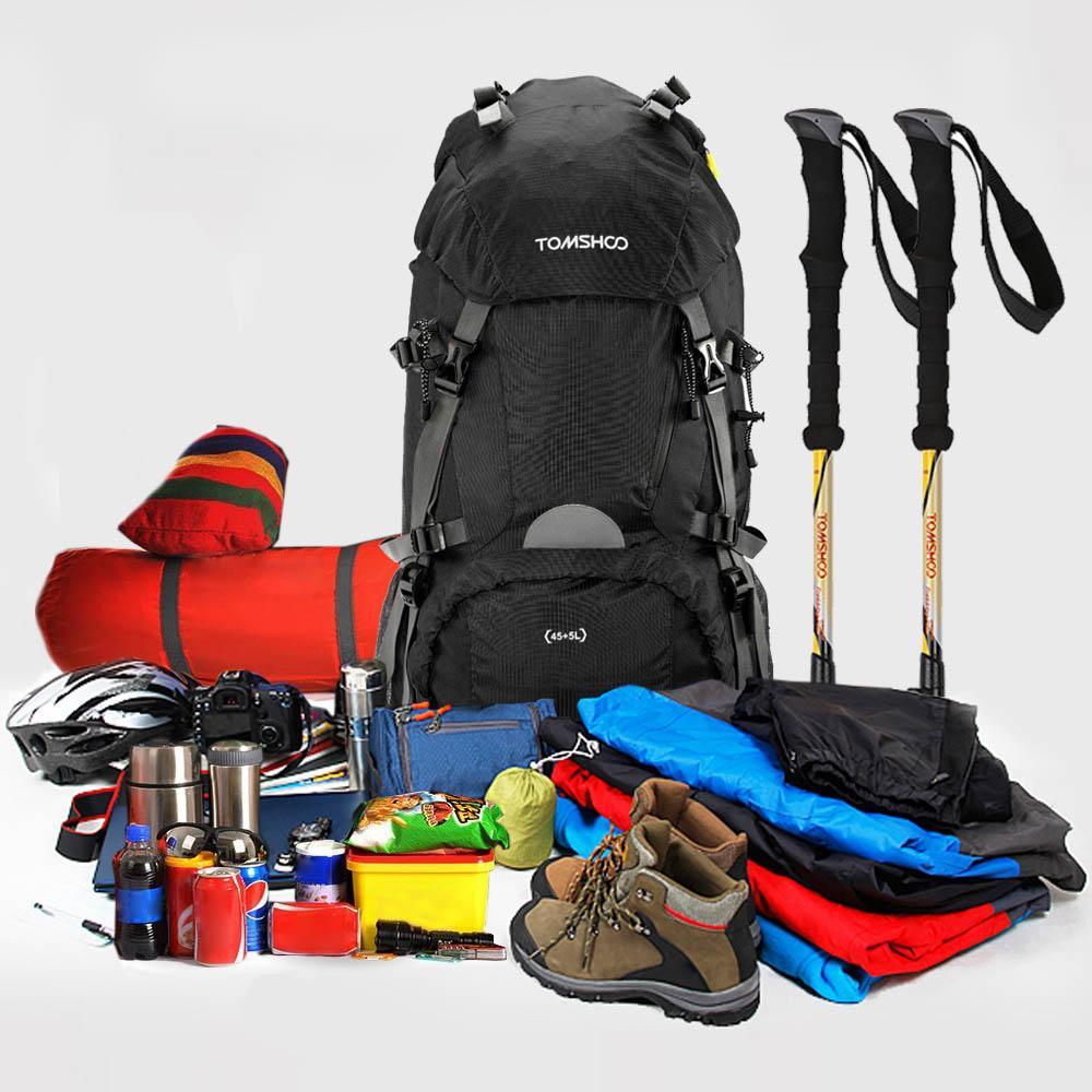TOMSHOO 2016 남녀 45 + 5L 여행 가방 배낭 야외 스포츠 하이킹 캠핑 배낭 등산 가방 전술 배낭