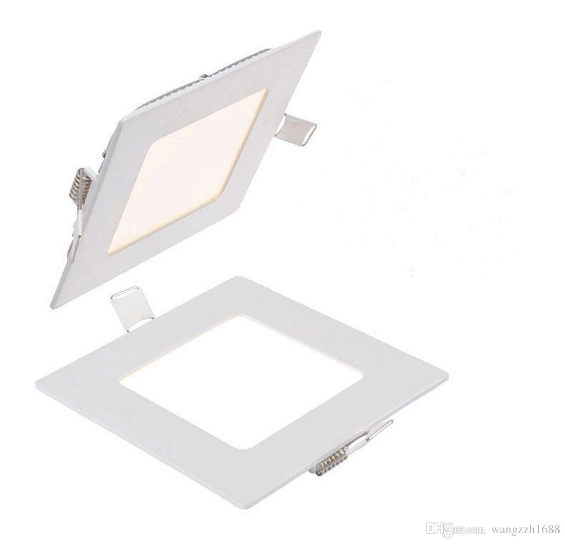 Meegan 6W 4-inch Ultra-thin Square LED Panel Light, LED Recessed ...