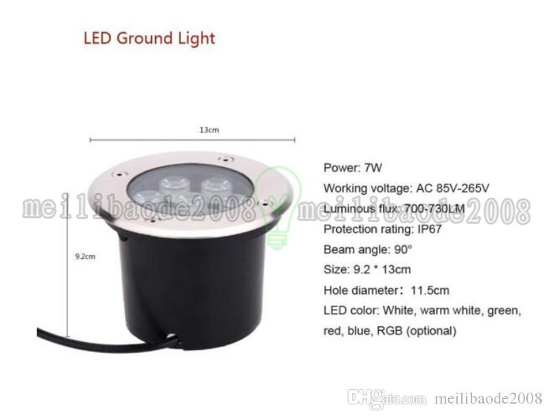 7x1W للماء عالية الطاقة في الهواء الطلق حديقة ضوء ساحة إضاءة المشهد IP67 للماء LED مصباح تحت الأرض ضوء MYY