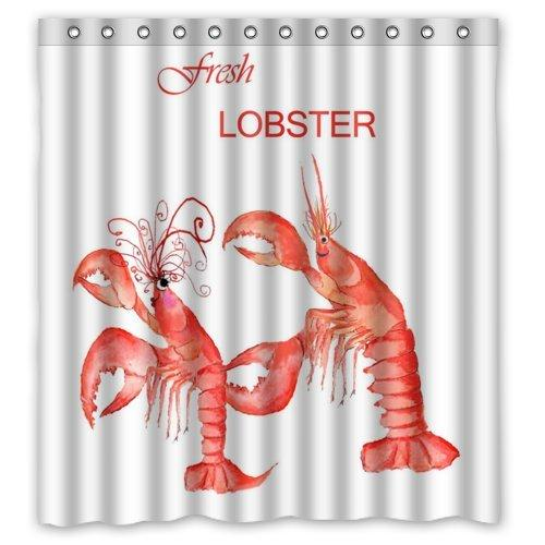 2019 Custom Lobster Shower Curtains Waterproof Fabric Bath Curtain With Accessories Hook Rings 66x72 Inch From Bestory 2362