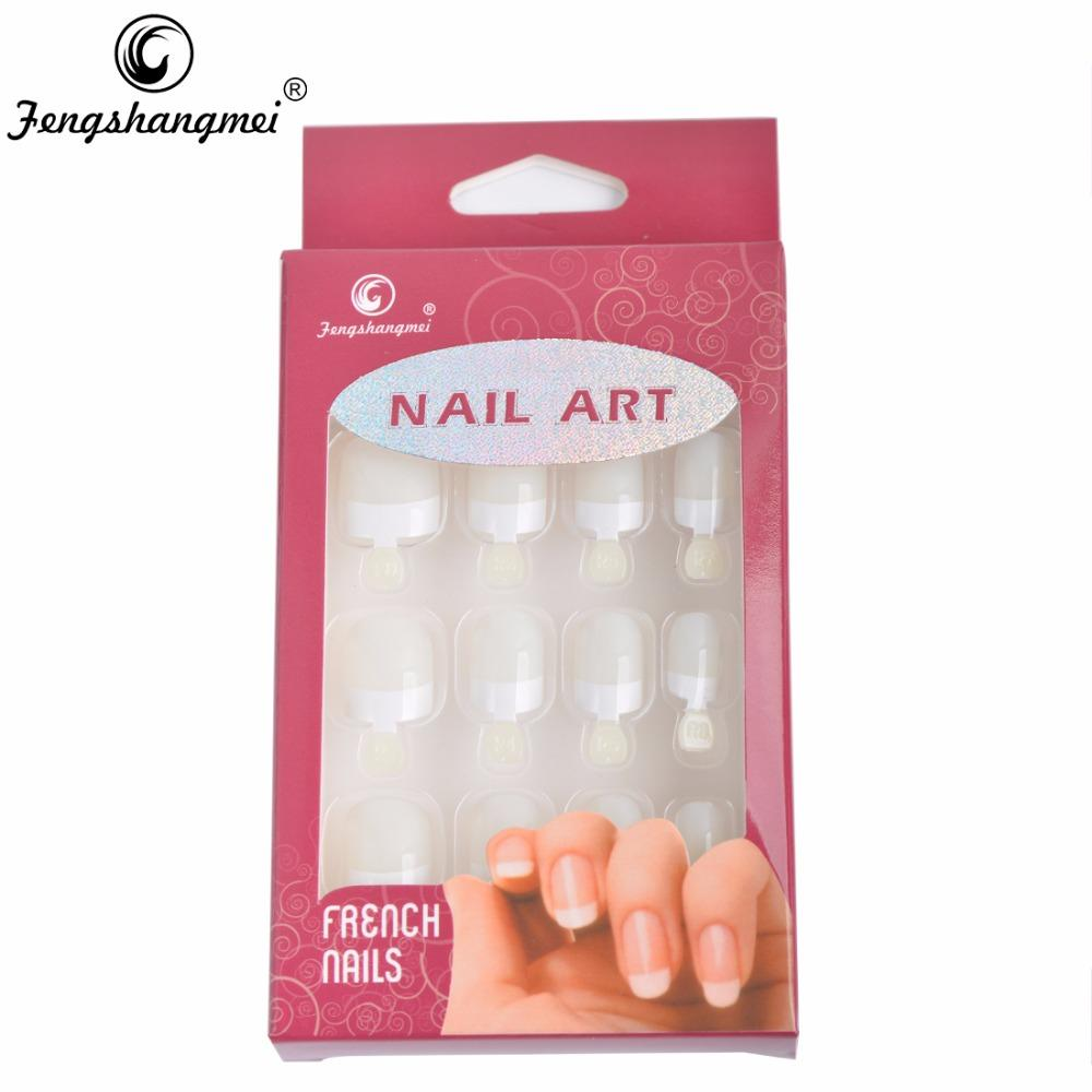 Wholesale Fengshangmei Instant French Nail Tips Fake Nails With Glue ...