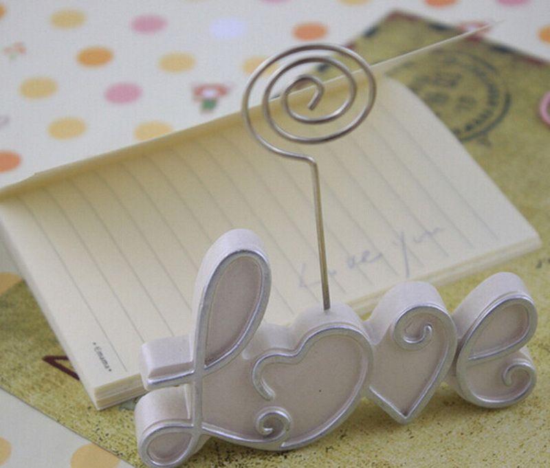 수지 하트 플레이스 카드 소지자 패션 웨딩 부탁 테이블 장식 이름 카드 소지자 DHL 무료 배송