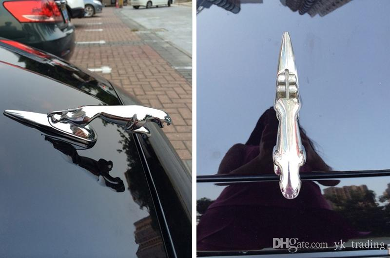 Jaguar XF XFL XJ6 XK S F TIPO Car Auto 3D solido Chrome lega metallica foro o adesivo Pantera Leopard Grill frontale Hood Emblem