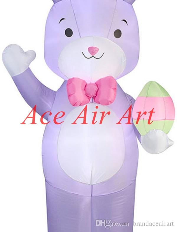 Wholesale product come with air blower 2.4m Tall lovely inflatable bunny for Easter decorations