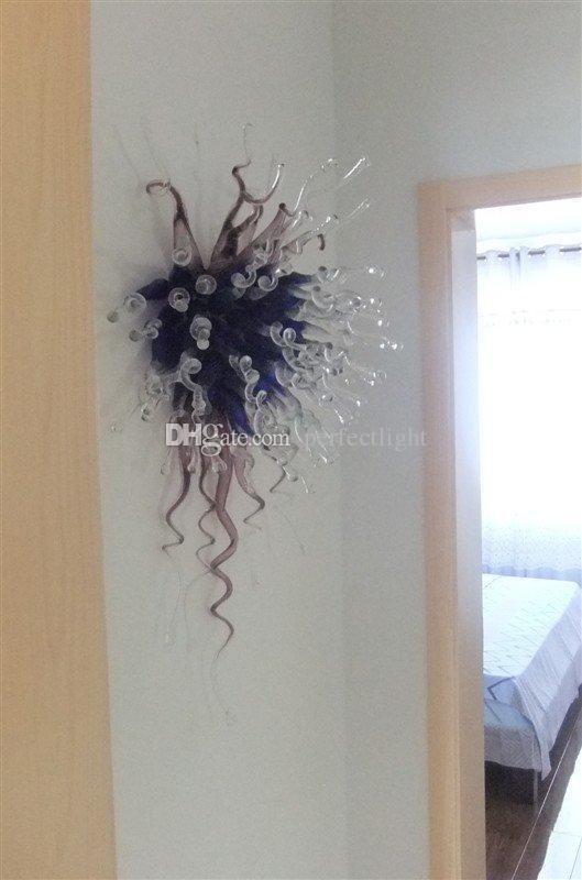 Dormitorio Mini Lámpara de pared 100% china soplado a mano Cubo de vidrio 110 v / 120 v Lámpara de sala de estar Largo