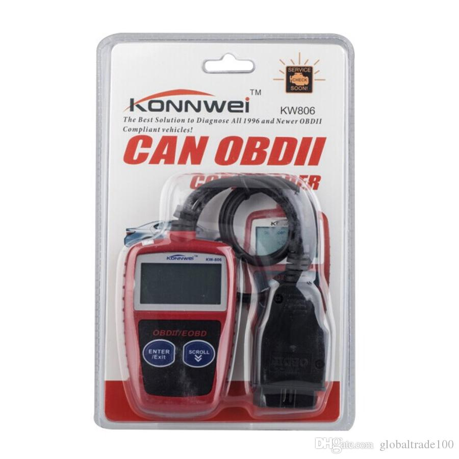KONNWEI KW806 Evrensel Araba OBDII Can Tarayıcı Hata Kodu Okuyucu Tarama Aracı OBD 2 OTOBÜS OBD2 Tanı Scaner PK AD310 ELM327 V1.5