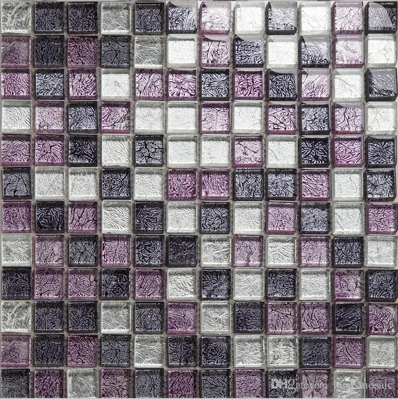Gold Foil Waterproof Modern Style Kitchen Backsplash/Wall/Floor Glass  Mosaic Tiles, Elegant Mesh Mounted Home Decor Tiles, Lsjb05 Under $170.36 |  Dhgate.Com