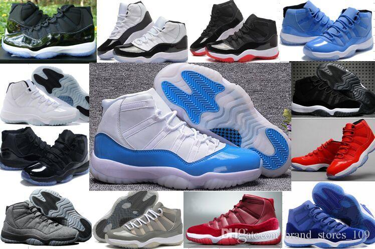 bdfdf8d91423 New 11s Concord White Blue Basketball Shoes Women Men Space Jam 11 ...