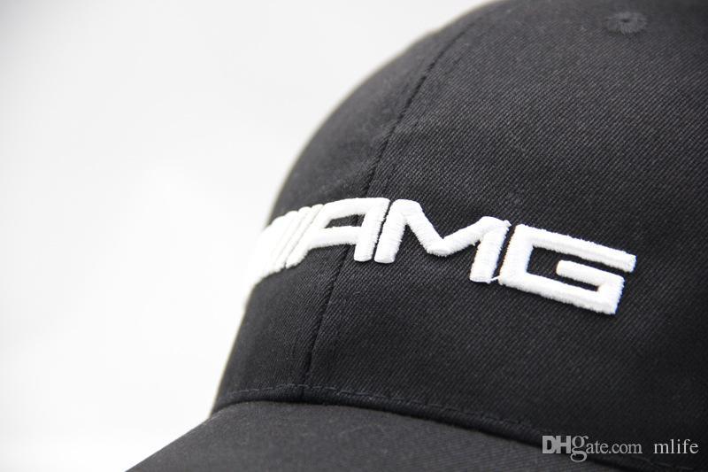 Bonne Qualité /// AMG Broderie F1 Racing Team Coton Casquette De Baseball De Mode Hommes Femmes Réglable Golf Cap Soleil Trucker Chapeau