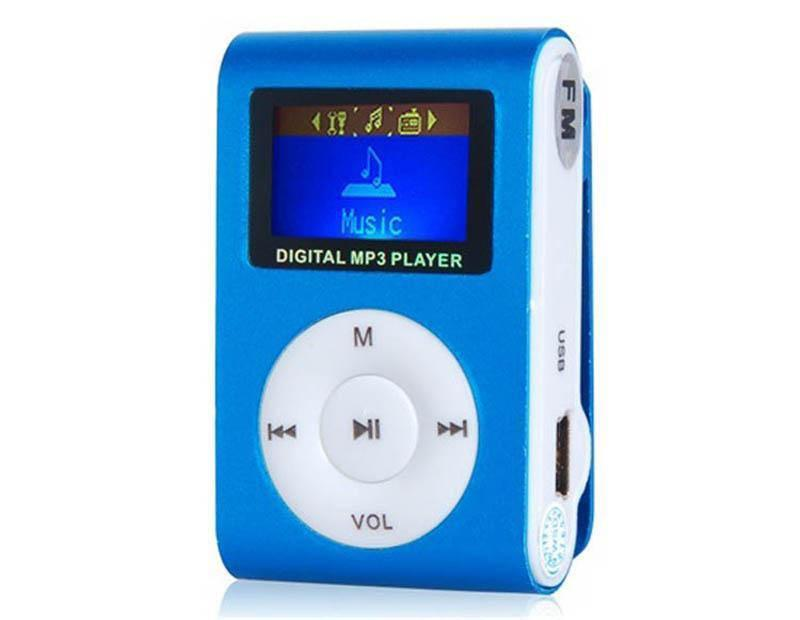 Colorful MINI Clip MP3 Player with 1.2'' Inch LCD Screen Music player Support Micro SD Card TF Slot Earphone USB Cable with Gift b