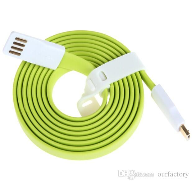 High Quality Charger 22CM 120CM Magnet Noodle Cord V8 5pin USB Sync Data Charger Cable For mini Android smartphone samsung huawei etc 500ps