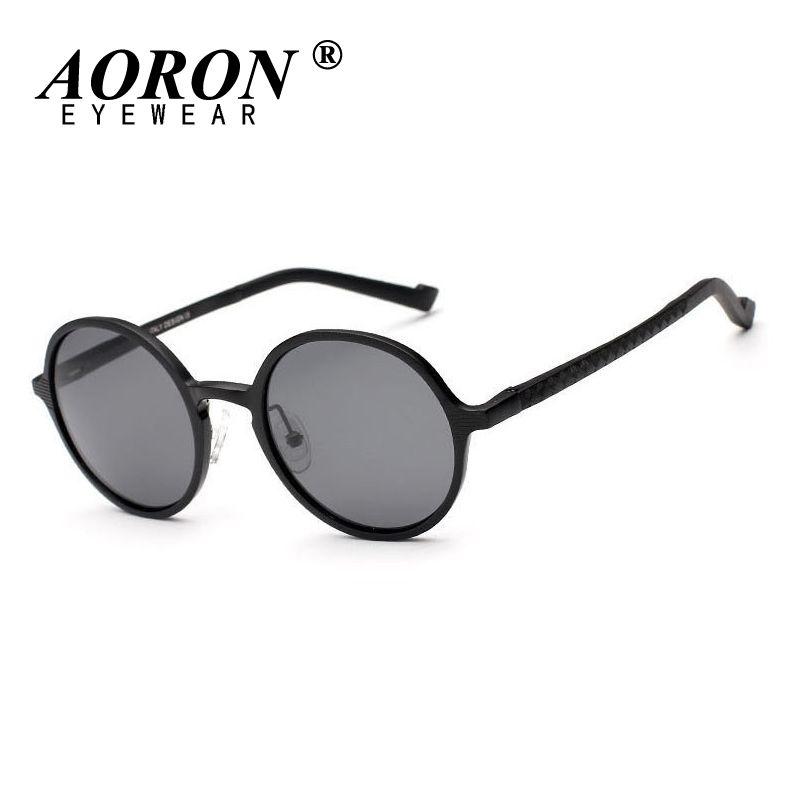 44081446ac8 AORON Unisex Polarized Round Circle Teashades Sunglasses John Lennon Granny  Sun Glasses Driving Glasses Eyewear Oculos Fashion Heart Sunglasses Circle  ...