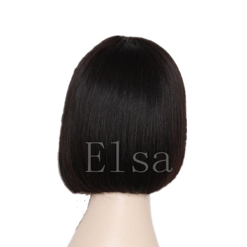 Cheap Brazilian Human Hair Wigs Silk Straight Human Hair Wigs With Baby Hair Glueless Full Lace Wigs For Black Women Natural Color
