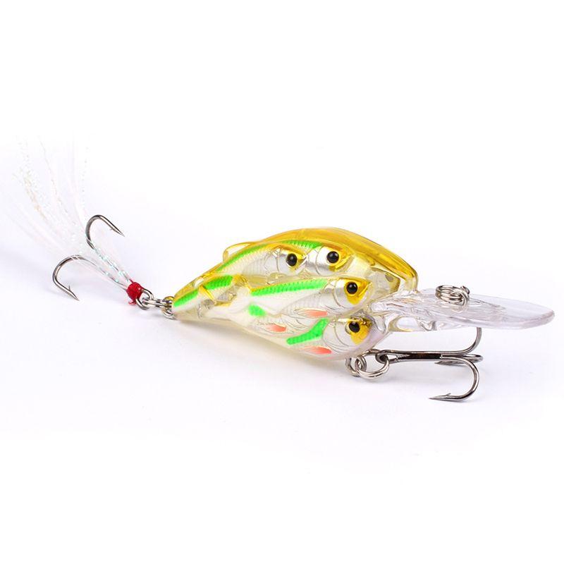 Original PROBEROS Plastic Fishing Lures Bait Minnow Crankbaits Group Fish 3D Eye Artificial Lure Bait Bionic Hard Bait 2530006