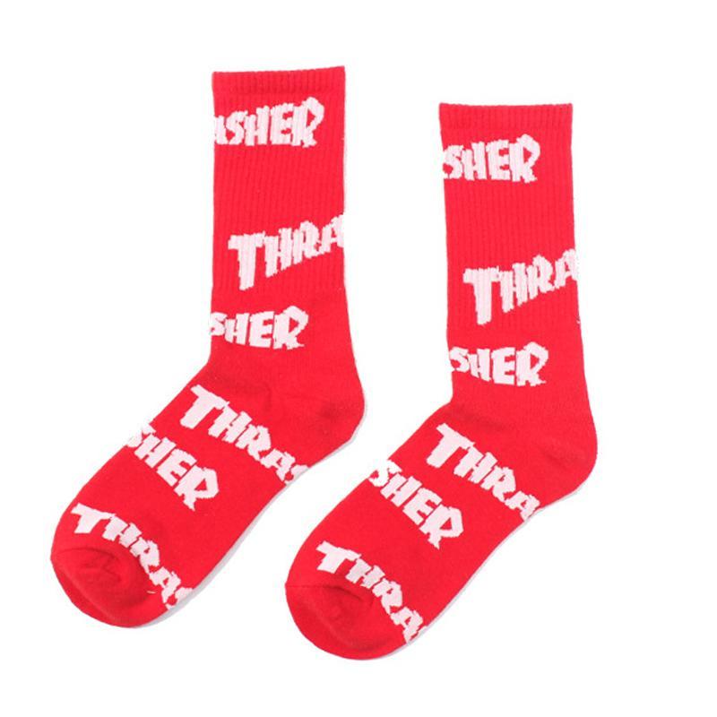 Kadın Erkek Moda Yaratıcı Komik Mektup Baskı Moda Çorap Pamuk Sıcak Çorap Yüksek Kaliteli Rahat Nefes Pamuk Çorap ücretsiz kargo