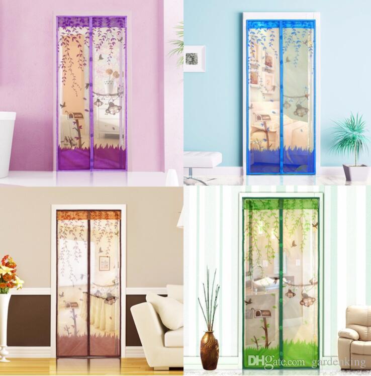 Great Durable Magnetic Mesh Screen Door Mosquito Net Sheer Curtains Protect  Kitchen Window Organza Scree 90*210cm/100*210cm Curtains Drapes Denim  Curtains From ...