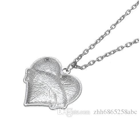 10 unids / lote Clear Crystal Heart Colgante Encanto Con Palabra Navy Mamá Collar de Cadena de Eslabones Para Regalos de Mujer