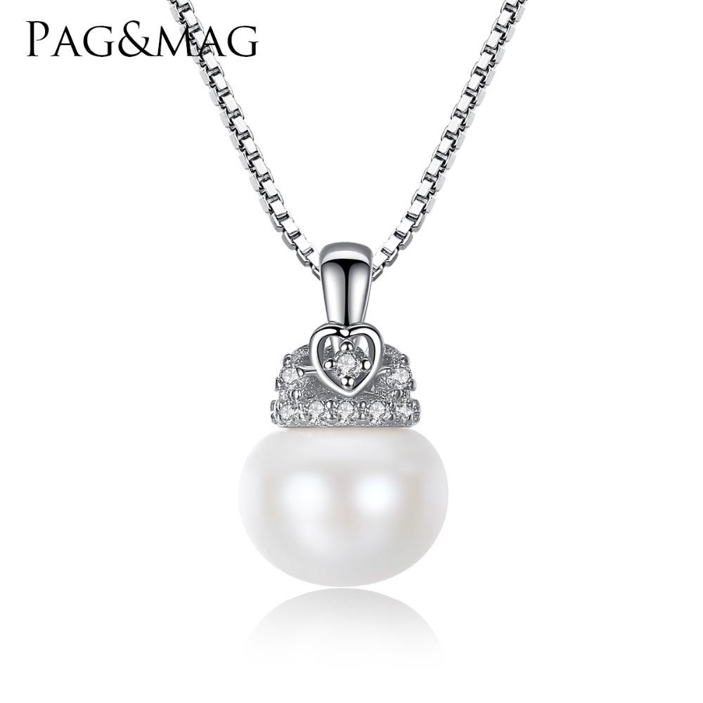 PAG&MAG Charm Shell Design Pearl Jewelry Pearl Necklace Pendant ...